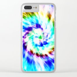Tie Dye Clear iPhone Case