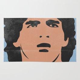 Diego Armando Maradona Argentine Vintage Version Rug