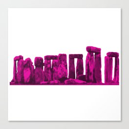 Stonehenge Magenta jGibney The MUSEUM Society6 Gifts Canvas Print
