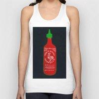 sriracha Tank Tops featuring Sriracha (2012) by Branden Vondrak
