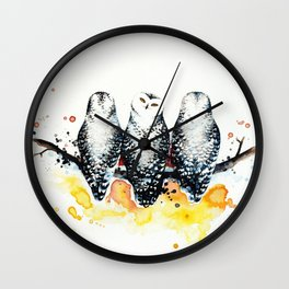 Owly sunset Wall Clock