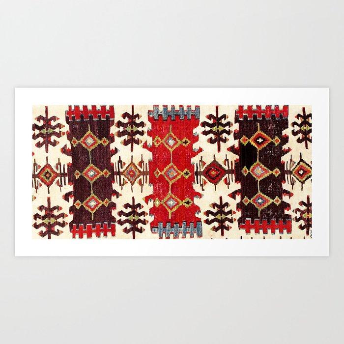 Burdur  Antique South West Anatolia Turkish Kilim Print Kunstdrucke