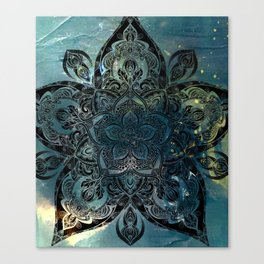 Flower mandala -night Canvas Print