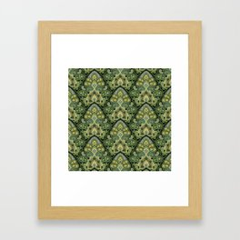 Green and Blue Paisley Framed Art Print