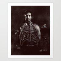 derek hale Art Prints featuring Fig. 3 Derek Hale by my dear sourwolf