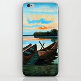 Boats at Sunset iPhone Skin