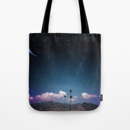 Palms in Space Tote Bag