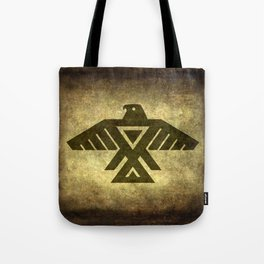 Symbol of the Anishinaabe, Ojibwe (Chippewa) on  parchment Tote Bag