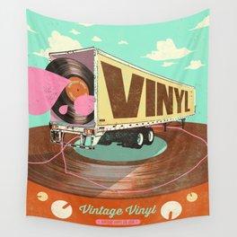 VINTAGE VINYL Wall Tapestry