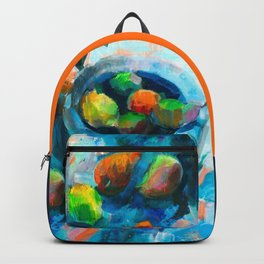Blue still life Backpack