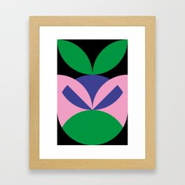 To me, it seems like an angry ninja face with leafes on it's head. Framed Art Print