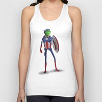 kermit Tank Tops featuring Captain Kermit by Matthew Bartlett