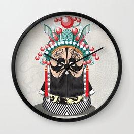 Beijing Opera Character XiangYu Wall Clock