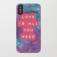 all you need is love iPhone & iPod Cases featuring LOVE IS ALL YOU NEED by INA FineArt