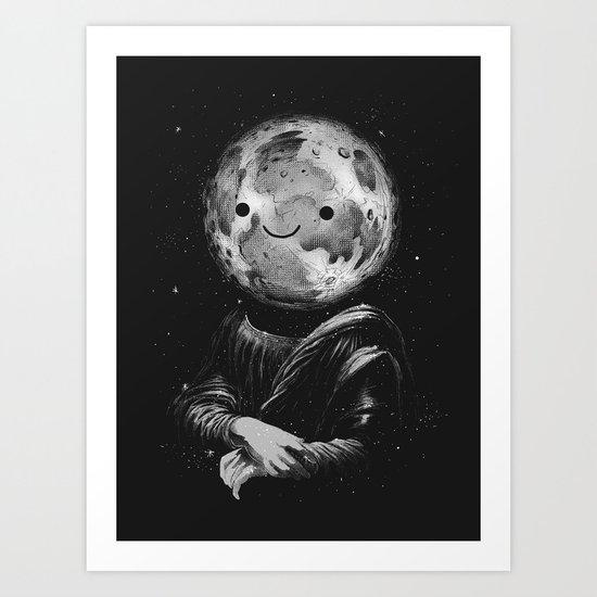 Moonalisa Art Print