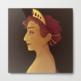 Persephone the Queen Metal Print