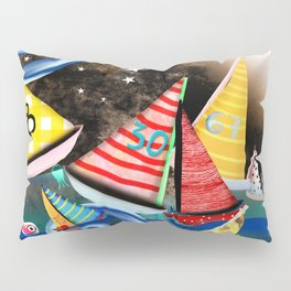 Night Sailing - Aurora Art Moonlight Stars Night Pillow Sham