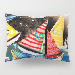 Night Sailing - Aurora Art Moonlight Stars Night Pillow Sham