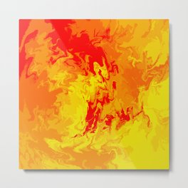 Abstract Lava  Metal Print