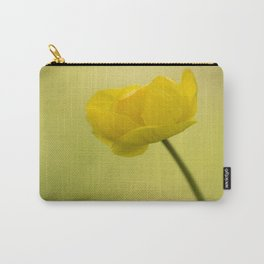 Yellow Globeflower On A Green Bokeh Background #decor #society6 #homedecor Carry-All Pouch
