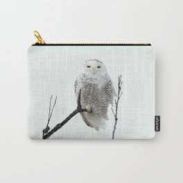 Snowy in the Wind (Snowy Owl 2) Carry-All Pouch