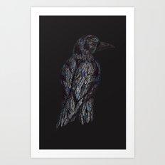 Black Bird (2) Art Print