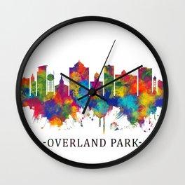 Overland Park Kansas Skyline Wall Clock