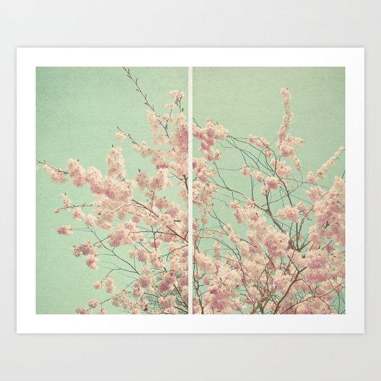 Blossom Diptych Art Print