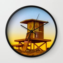 lifeguard tower Wall Clock