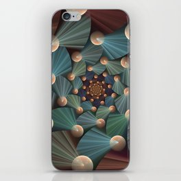 Graphic Design, Modern Fractal Art Pattern iPhone Skin