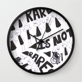 Rare Is Not Rare Wall Clock