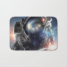 galaxy astronaut Action helmet Bath Mat