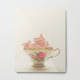 Pink Meringues Metal Print