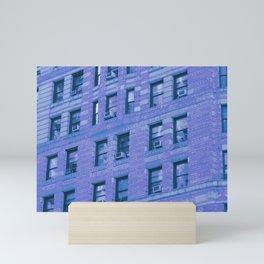 Blue side building Mini Art Print