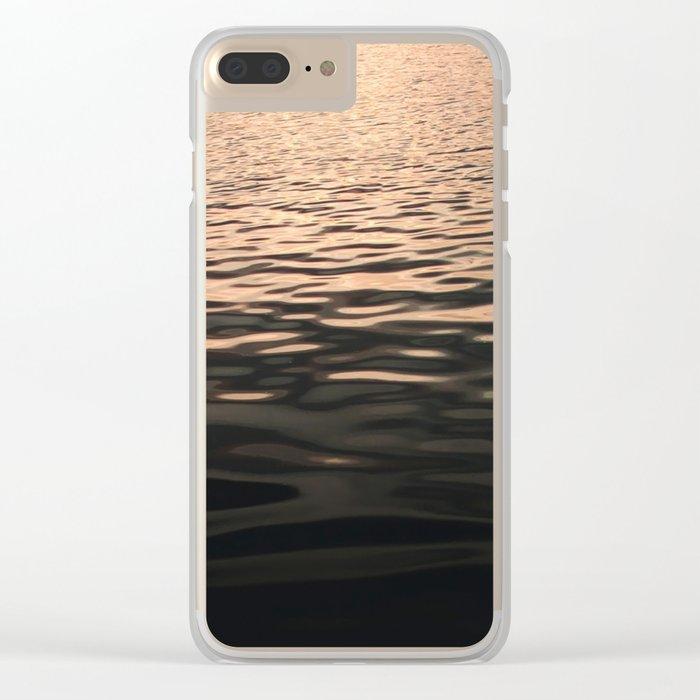 Liquid Sunset Clear iPhone Case