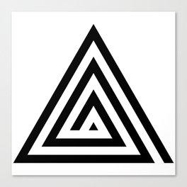 Triangle Spiral Canvas Print