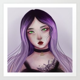 Pastel girl Art Print