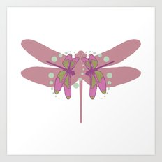 pattern with dragonflies 3 Art Print