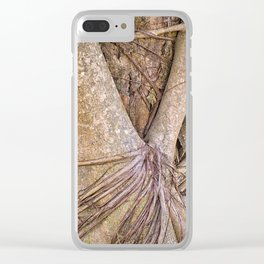 Strangler fig close up view Clear iPhone Case