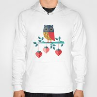 jazzberry Hoodies featuring OWL ALWAYS LOVE YOU by Daisy Beatrice