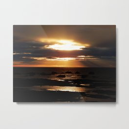 Golden Sunset Delight Metal Print