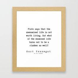 93 | Kurt Vonnegut Quotes | 191006 Framed Art Print
