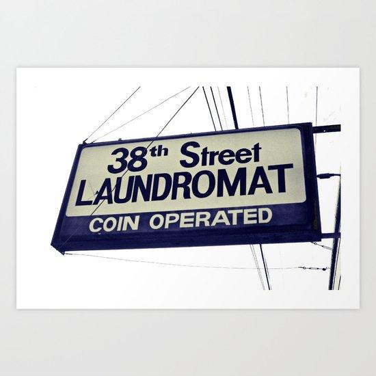 38th Street Laundromat Art Print