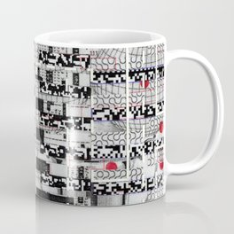 Opportunistic Species (P/D3 Glitch Collage Studies) Coffee Mug