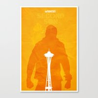 infamous Canvas Prints featuring Infamous-In-Seattle by FelixT