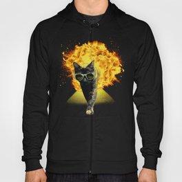 Goodbye Yellow Brick Road - Cat walking away from explosion Hoody