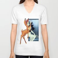 givenchy V-neck T-shirts featuring Givenchy Bambi by cvrcak