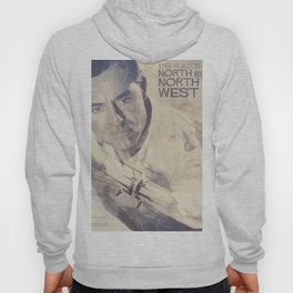 North by Northwest, Alfred Hitchcock, vintage movie poster, Cary Grant, minimalist Hoody