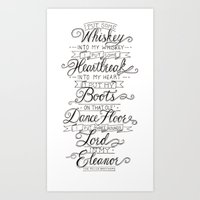 whiskey Art Prints featuring Whiskey In My Whiskey by Erika Leahey