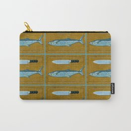 Mackerel on Cutting Board Carry-All Pouch